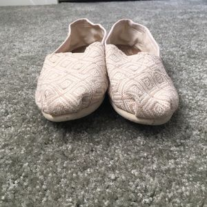 Toms Shoes - Toms cream Aztec shoes
